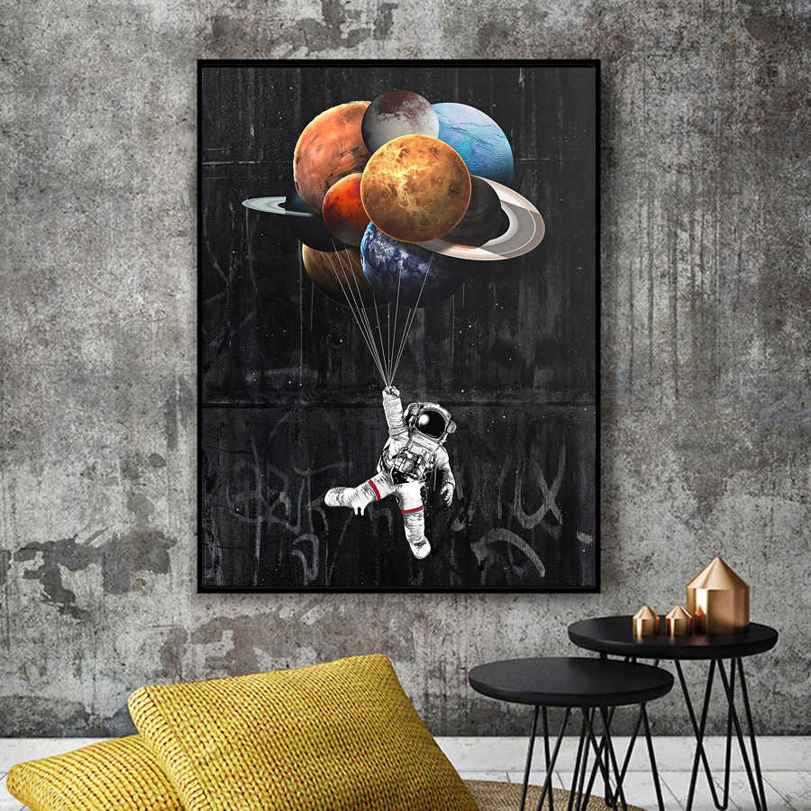 Astronaut Space Dreaming Canvas Printing Paintings Solar System