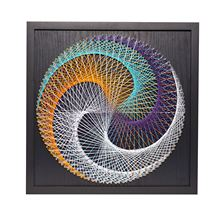 40cm DIY Nail String Art Kit Stereo /Flower Shape Lines Drawing Painting With Frame Handmade Craft Home Decor For kids Adults