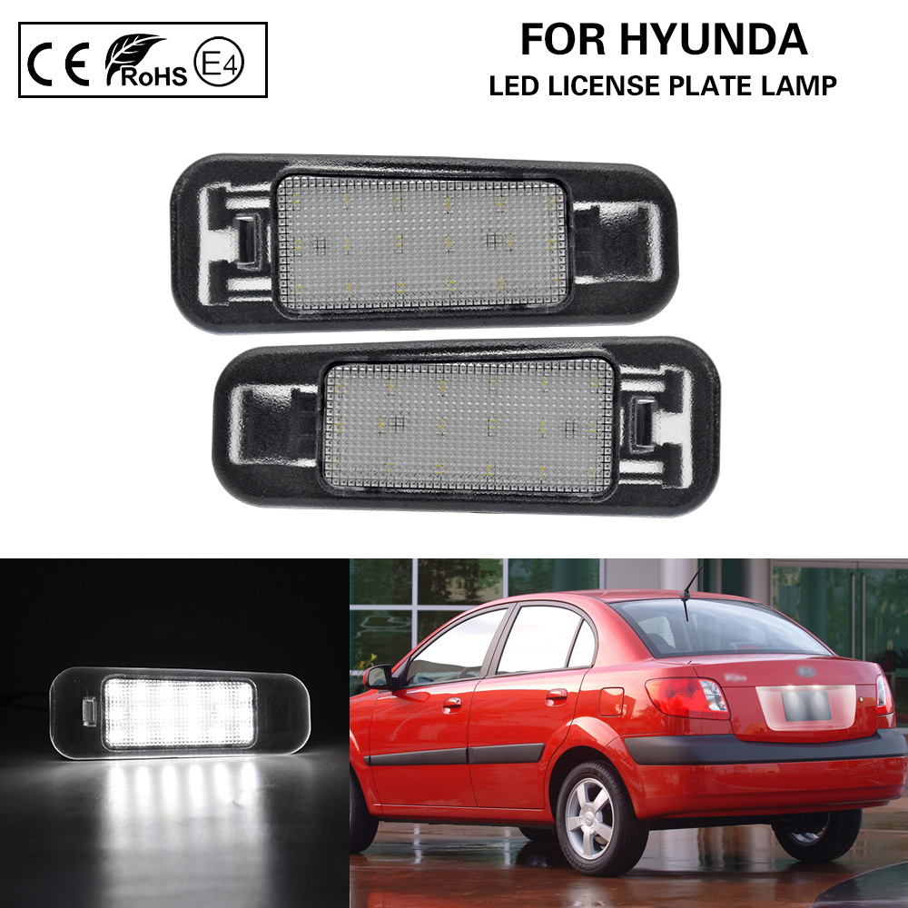 2Pcs LED Number License Plate Light Lamp For Rio 2005-2011 Kia Rio5 2006-2011