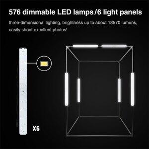Image 4 - 140*120*100ซม.LEDแบบพกพาสตูดิโอกล่องนุ่มไฟLEDสตูดิโอถ่ายภาพแสงเต็นท์สำหรับรถเข็นกรณีเด็กผ้า