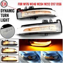 2pcs Dynamic Turn Signal LED Light Side Mirror Indicator For Mercedes Benz W204 CLA A B C E S GLA GLK CLS Class W176 W212