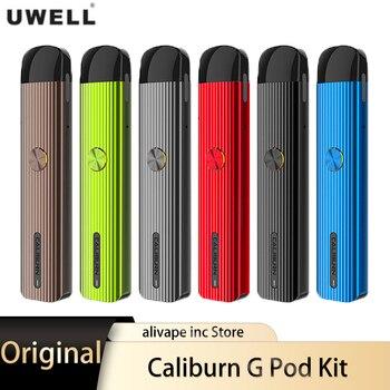 Uwell – Kit de Cigarette électronique Caliburn G, avec Pod AIO, 2ml, 690mAh, 18W, système de vapotage DTL/MTL, type-c
