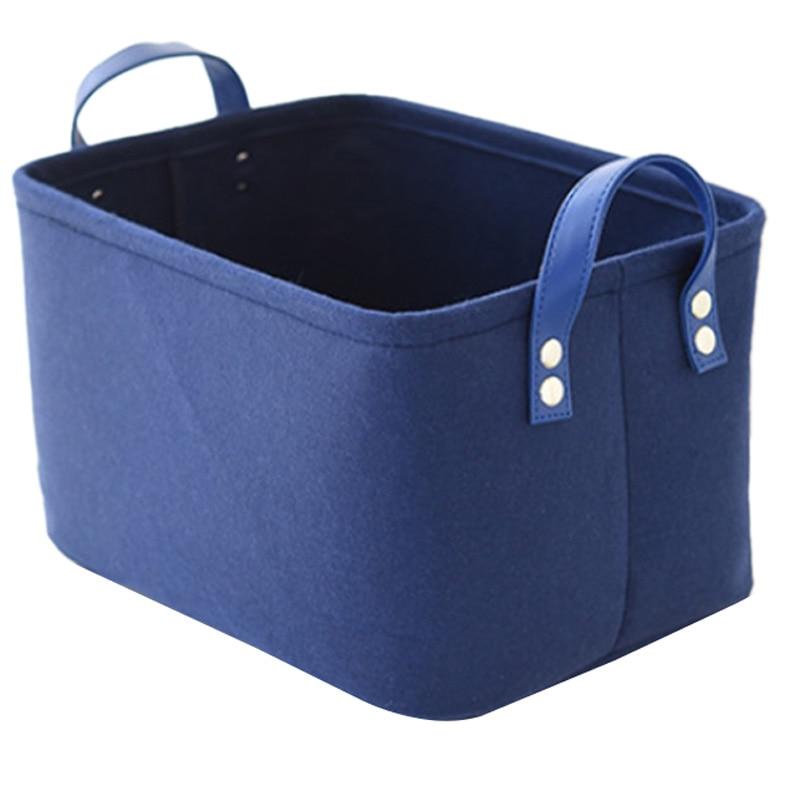 Foldable Laundry Basket Felt Toy Book Storage Basket Dirty Clothes Toys Holder Container Desktop Living Room Bathroom Organizer