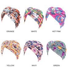 Foulard pour cheveux multicolore, Turban en soie, motif africain, pour femmes, couvre-chef, Turban musulman, tendance