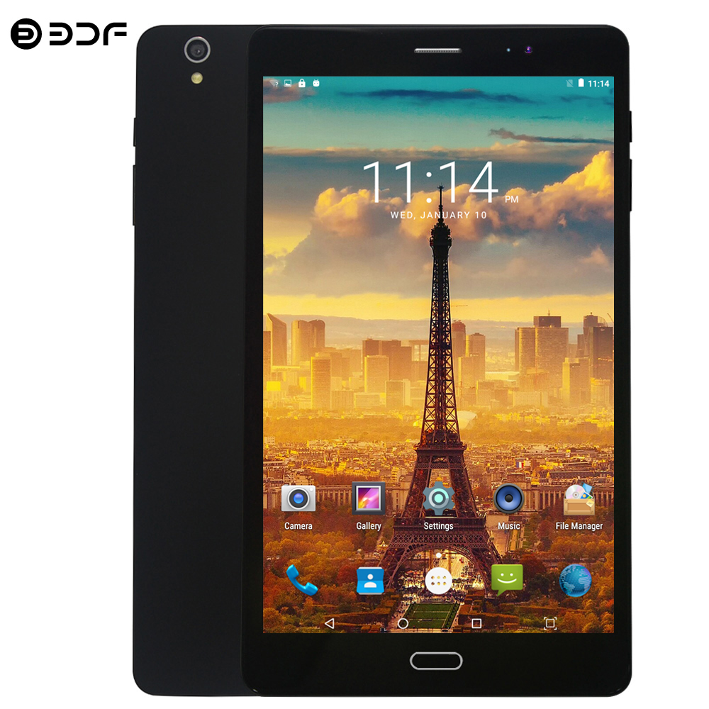 BDF Tablets 8 Inch Android 7.0 Tablet Pc Octa Core 4GB/64GB Dual SIM Card 4G LTE Mobile Phone Tablet 12MP 1920*1200 IPS Tablet 8