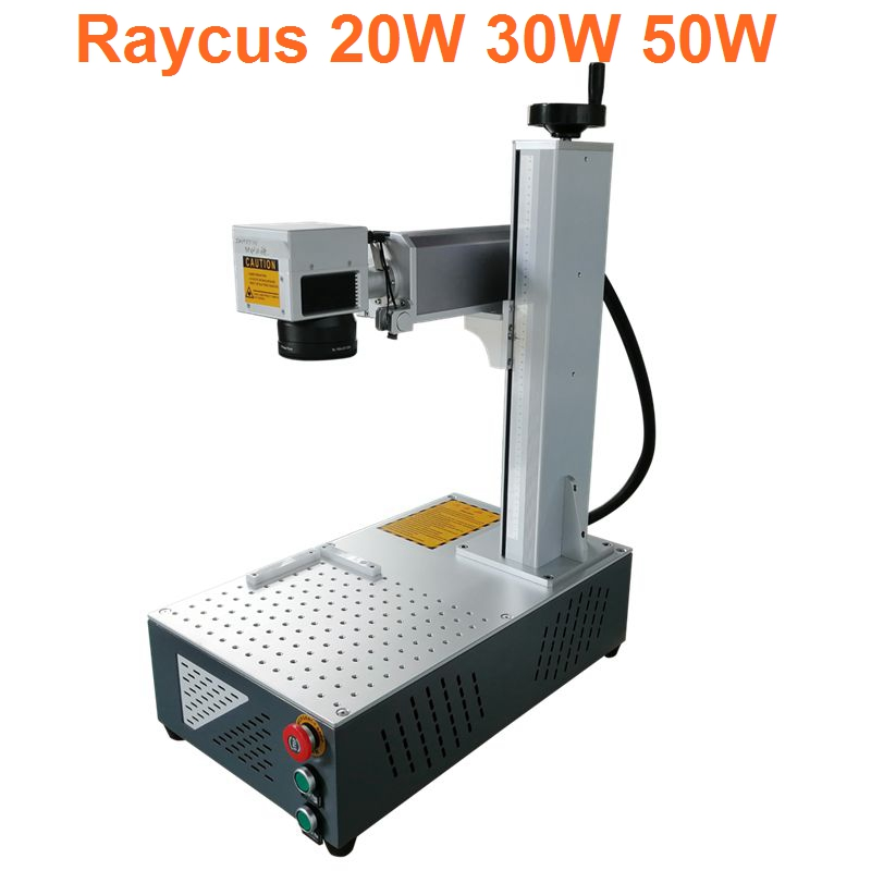 Raycus 30W 20W Fiber Laser Marking Engraving Cutting Machine Used For Metals And Alloys Raycus Laser Source CNC