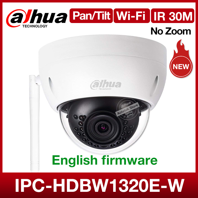 Dahua Original Wifi Network Camera DH-IPC-HDBW1320E-W 3MP Wireless Sd Card Outdoor Security Mini Dome Cctv IR Camera Onvif