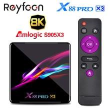 ТВ приставка X88 PRO X3 Android 9,0 Amlogic S905X3 четырехъядерный 5G Wifi 4K 2GB 16GB 4GB 128GB телеприставка Google Media YouTube 64GB 32GB