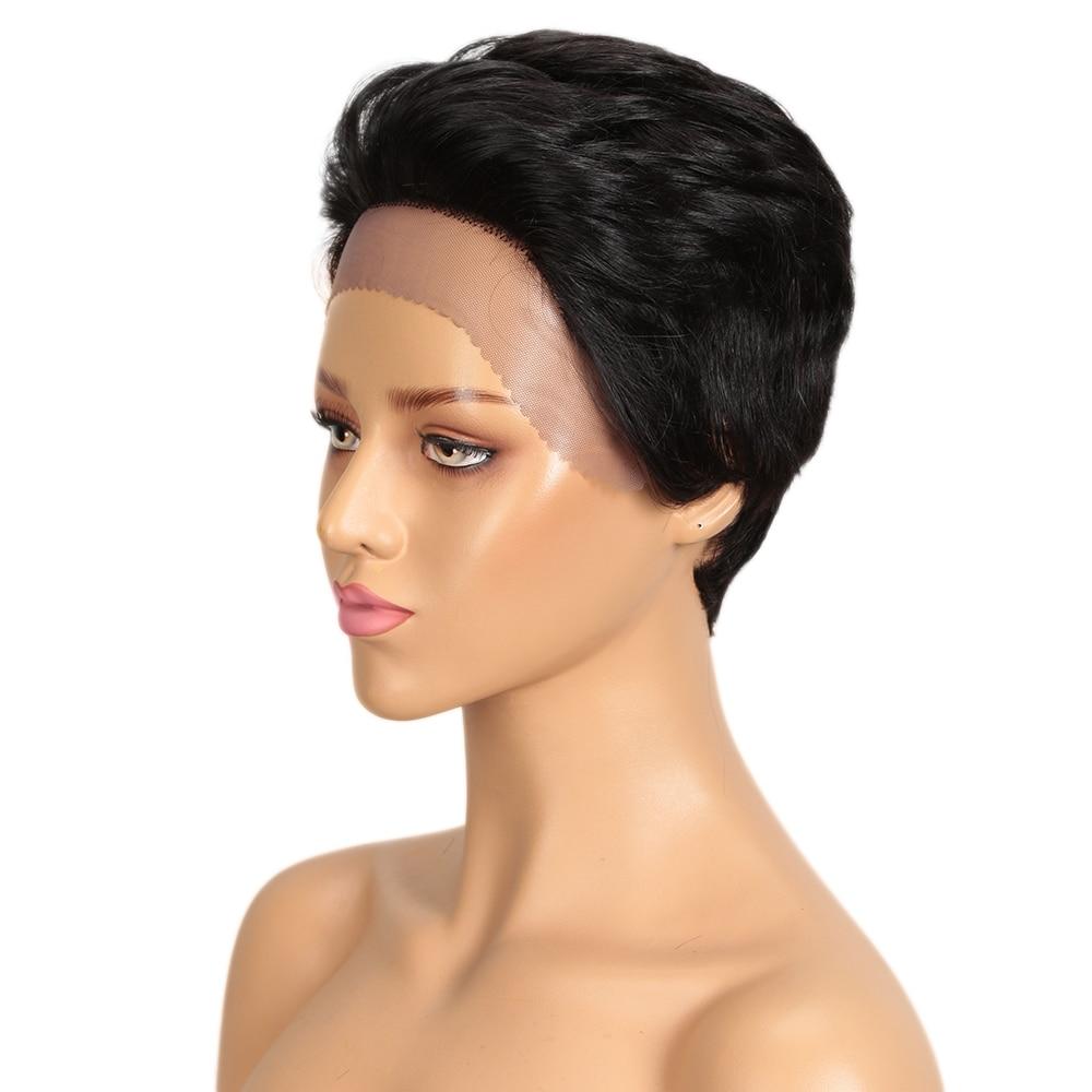 Short Pixie Cut Lace Part Human Hair Wig