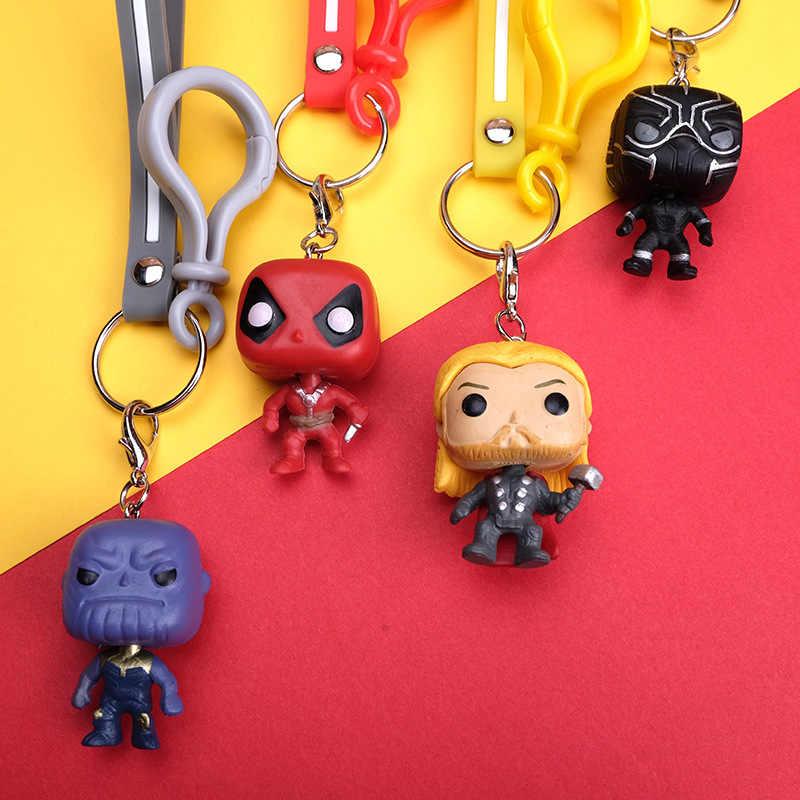 2020 Marvel Superhero Besi Spider Man Thor Gantungan Kunci Captain America Hulk Black Panther Thanos Deadpool Gantungan Kunci Pria dan wanita