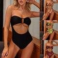 2020 siamese sexy bikini terno de natação feminino maiô um pedaço monokini banho triquini fitness biquini cupshe