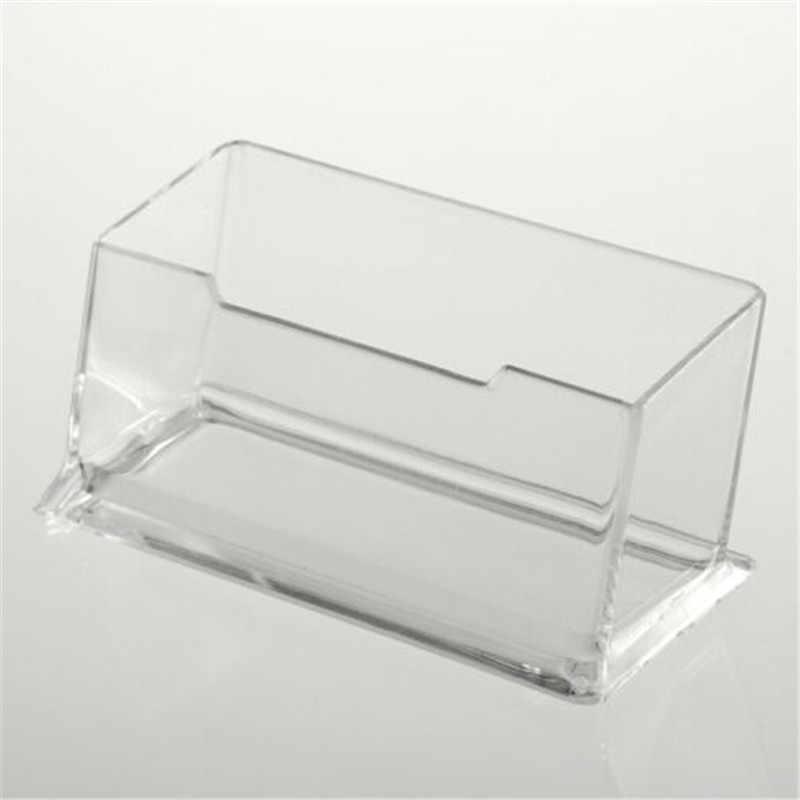 1pcs New Clear Desk Shelf Box storage Display Stand Acrylic Plastic transparent Desktop Business Card Holder