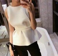 Leisure Temperament Sleeveless Tank Tops Women Fashion Slim White Short Lotus Leaf Vest 2019 Autumn New Female Tops L231