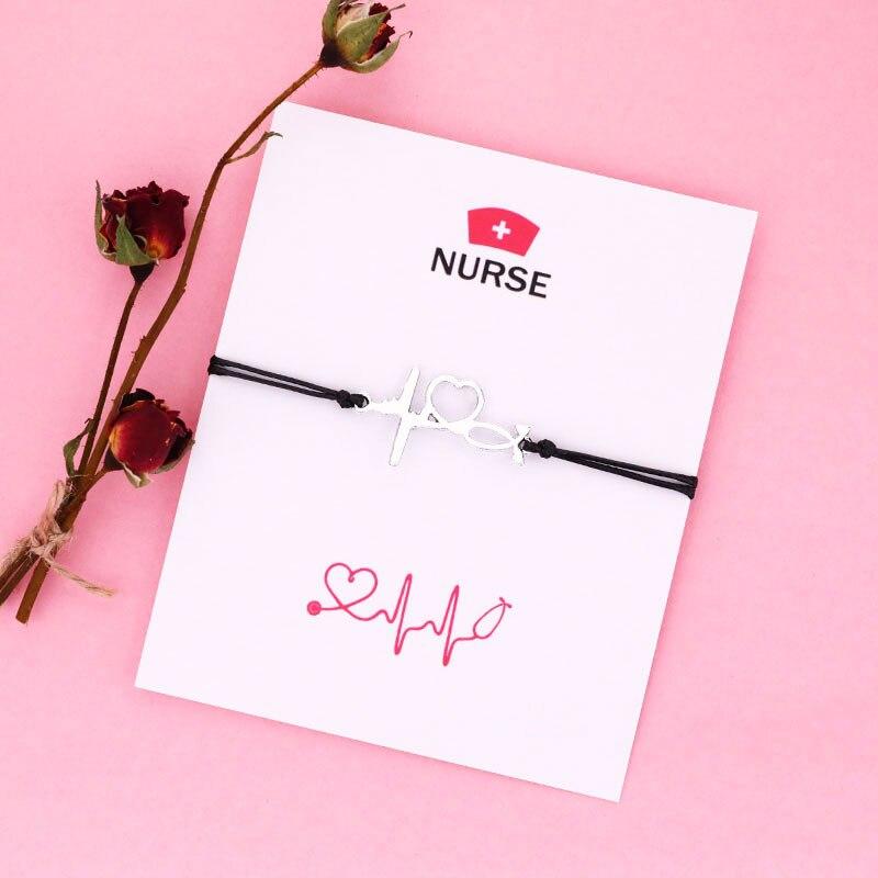 Браслет с изображением стетоскопа, браслеты Jisensp для медсестер и мужчин, ювелирные изделия для медсестер, выпускной, дружеские подарки