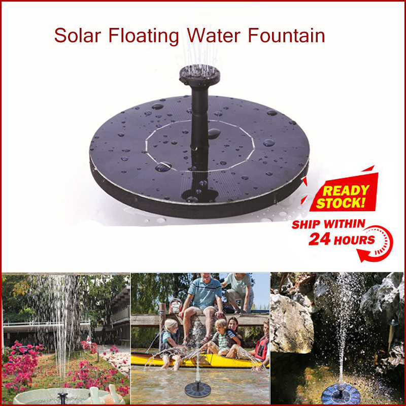 Dropshipping Mini Solar Floating Water Fountain For Garden Pool Pond Decoration