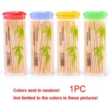 100PCS/ Box Disposable Wood Dental Natural Bamboo Toothpick For Home Restaurant Hotel Products Toothpicks Tools