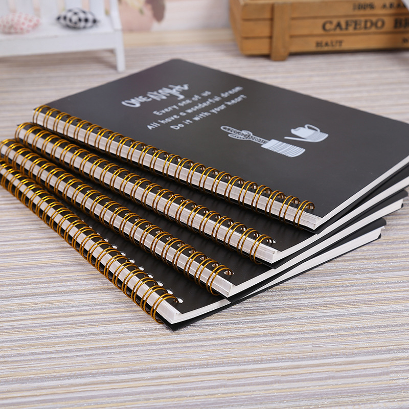 Spiral Notebook Lined Pages Diary Plastic Hard Cover 80 Sheets Notepad Size A5&A6 Notebook For School Writing, Journaling