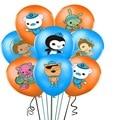 12 шт./лот «Октонавты» шары 12 дюймов Octonauts латексных воздушных шаров с графикой из мультиков морская тема животных воздушные шары с днем рожд...