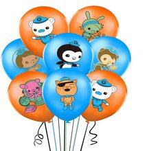 12 pçs/lote Os Octonauts 12 polegadas Octonauts Balão De Látex balões Dos Desenhos Animados Do Mar tema animal bolas de ar feliz Aniversário Fontes Do Partido