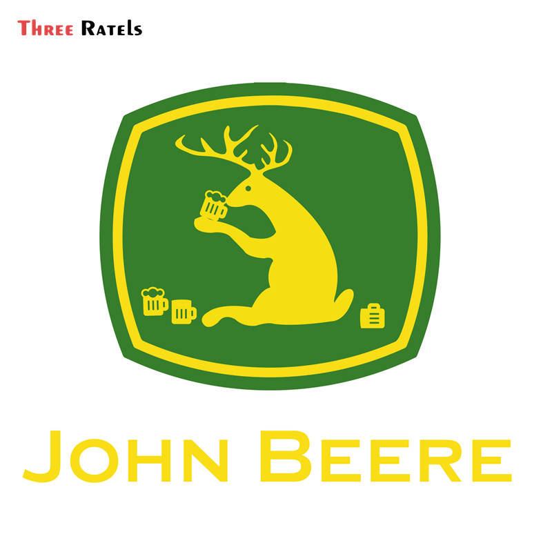 Three Ratels  FC981 Vinyl Stickers for JOHN BEERE Farm Tractor Gator Farming AUTO MOTO Car Tuning Side Stickers Funny Decal