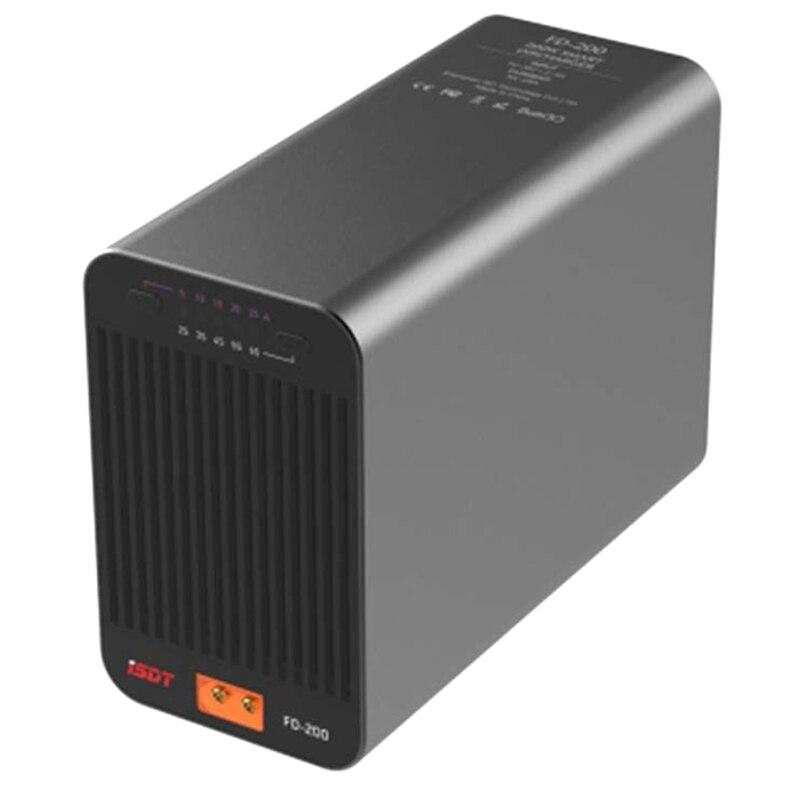 Oyuncaklar ve Hobi Ürünleri'ten Parçalar ve Aksesuarlar'de ISDT FD 200 akıllı kontrol deşarj 200W 25A kablosuz APP kontrolü deşarj kapasitesi 2 8S Lipo pil deşarj