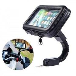 Uchwyt na telefon motocyklowy wsparcie Moto rower lusterko wsteczne stojak wodoodporny skuter motocykl torba na telefon Samsung