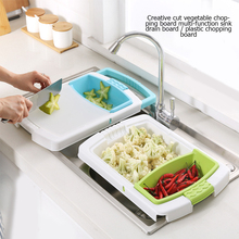 Kitchen Chopping Blocks Multifunction Sinks Drain Basket Cutting Board Vegetable Meat Tools Accessories