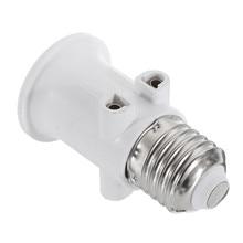 AC100-240V 4a e27 abs plugue da ue conector acessórios led lâmpada adaptador titular base parafuso luz soquete conversão para luzes
