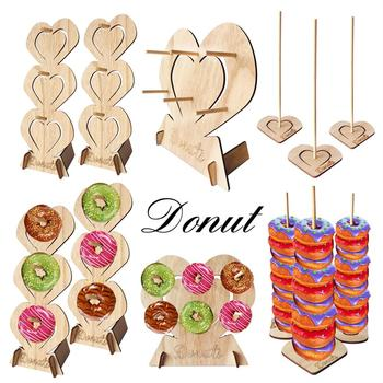 QIFU Donut Wall Stand Holds Candy Bar Sweet Cart Wedding Birthday Party Decoration Baby Shower Doughnut Birthday Table Supplies