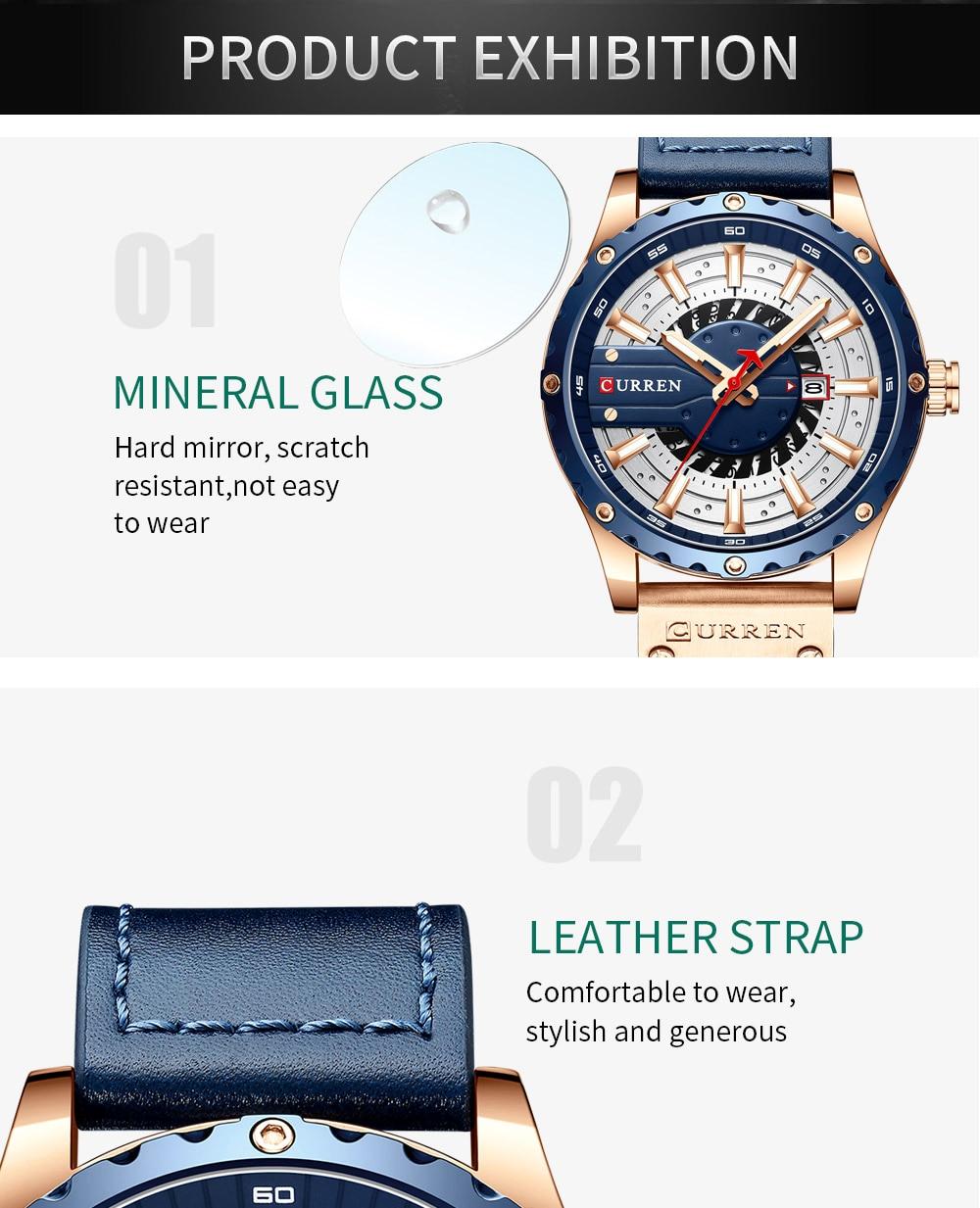 H67fa5a4d5416429cbe7ced2f993a80548 CURREN Watch Wristwatch  New Chic Luminous hands