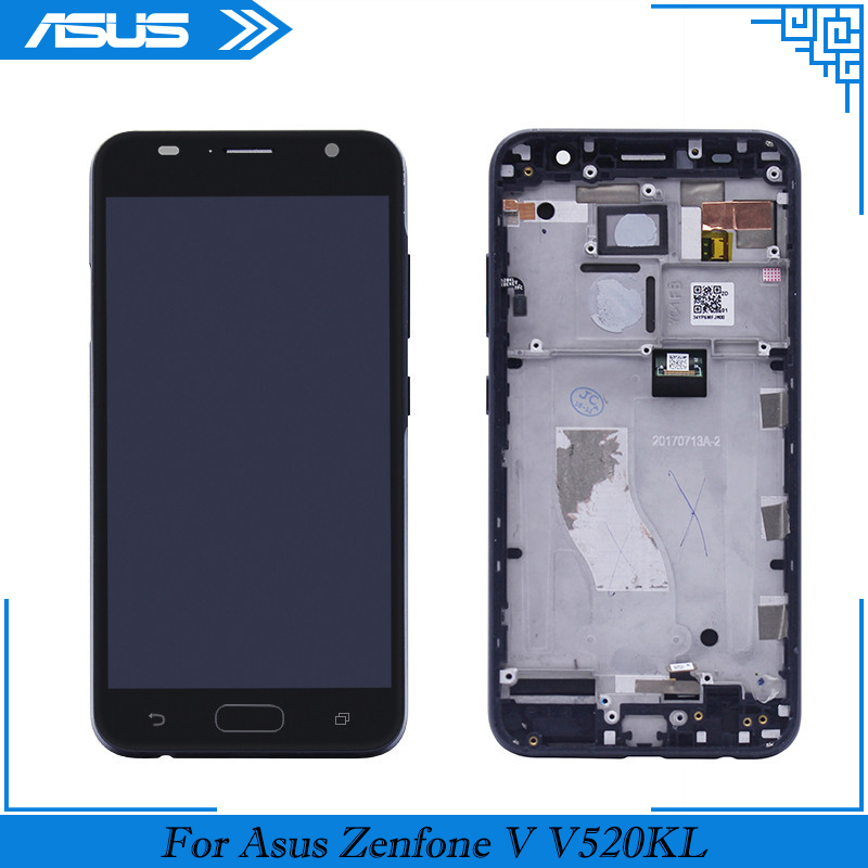 For ASUS ZenFone V V520KL LCD Display Touch Screen Digitizer Assembly Repair Part with frame For ASUS ZenFone V520KL LCD Screen