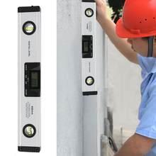 Regla de Nivel de Burbuja cónico, transportador LCD Digital, inclinómetro, buscador de ángulos, herramienta de medición de Nivel con láser magnético, venas de 400mm