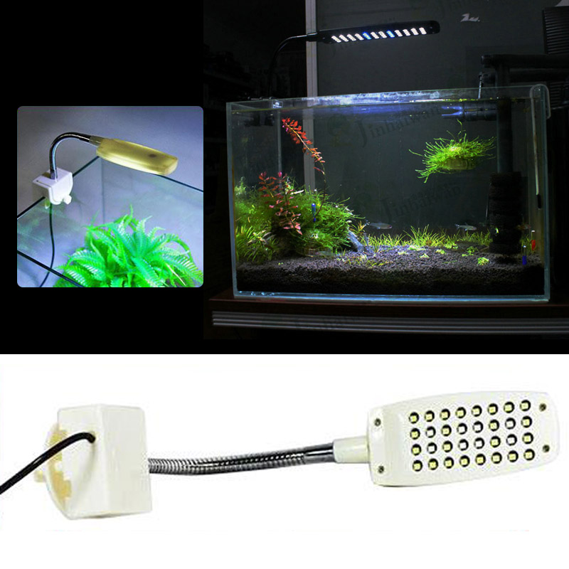 MINI Aquarium Fish Tank LED Light Distorted Desk Lamp Flexible LUMEN White Blue in Lightings from Home Garden