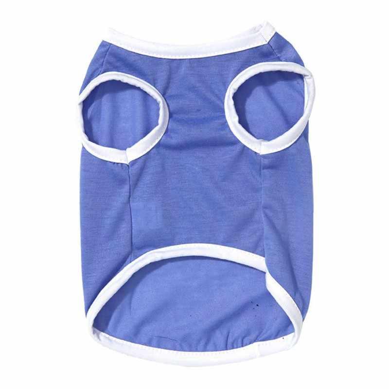 วันเกิดสุนัข Cat เสื้อผ้าผ้าฝ้ายบาง Breathable Sleeveless เสื้อยืดเสื้อฤดูใบไม้ผลิฤดูร้อนสัตว์เลี้ยงเครื่องแต่งกายราคาถูก YH