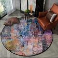 Скандинавский ретро старинный цветочный ковер  круглый коврик для стула  этнический стиль  винтажные прикроватные коврики  декор для спаль...