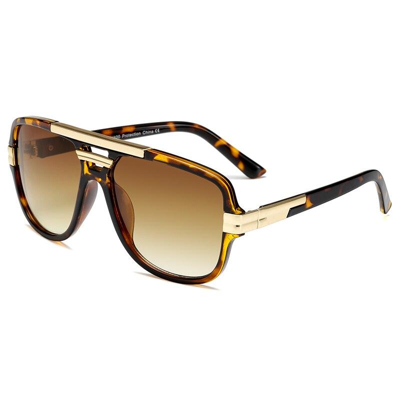 Brand Design New Sunglasses Fashion Men Square Luxury Sun Glasses Vintage UV400 Sunglass Shades Eyewear Gafas De Sol Hombre