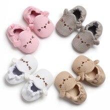 Crochet Baby Girl Newborn Shoes Sweet Mary Jane Toddler Cartoon Knitted First Walkers Pram Crib Shoe Fashion Baby Boy Moccasins