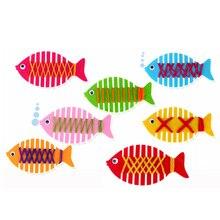 Toys Child-Supplies Gift Diy-Material Kindergarten Handmade Non-Woven Small Fish 1pcs