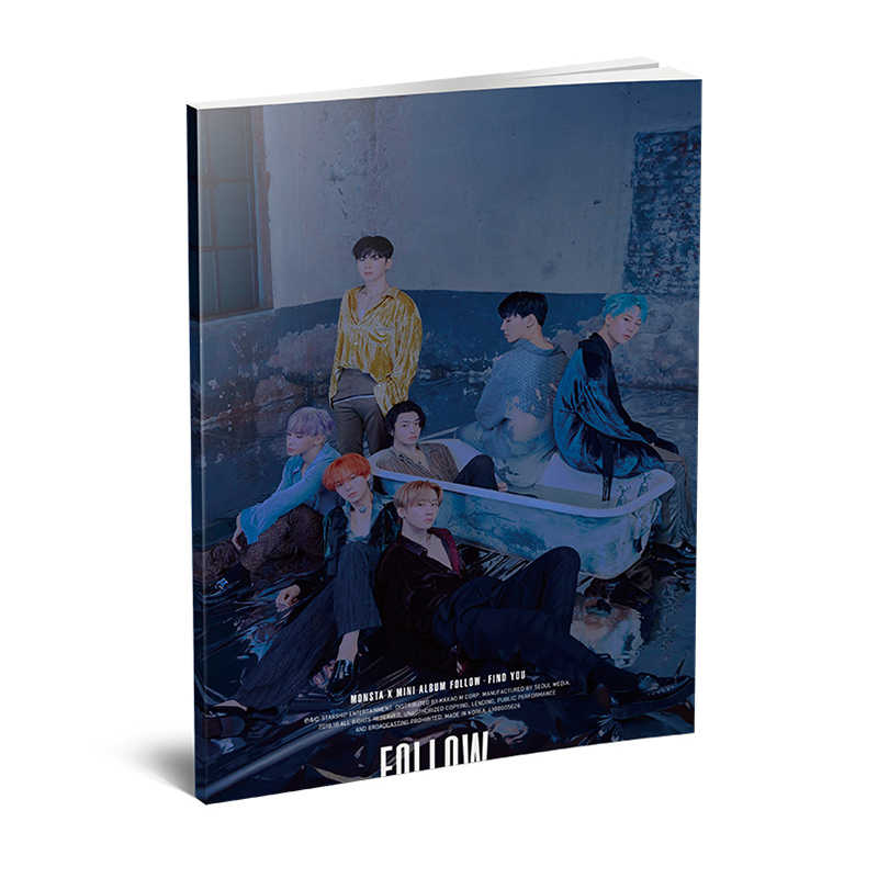 Kpop MONSTA X 7th Mini álbum <'follow ': FIND YOU> Mini Photobook moda k-pop MONSTA X álbum de fotos foto tarjeta Fans colección