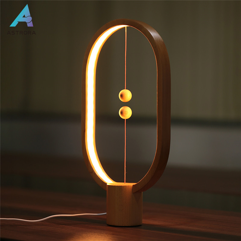 ASTRORA LED Heng Balance Sailing Art Table Lamp Magnetic Switch Warm Eye-Care Lamp Night Home Decoration