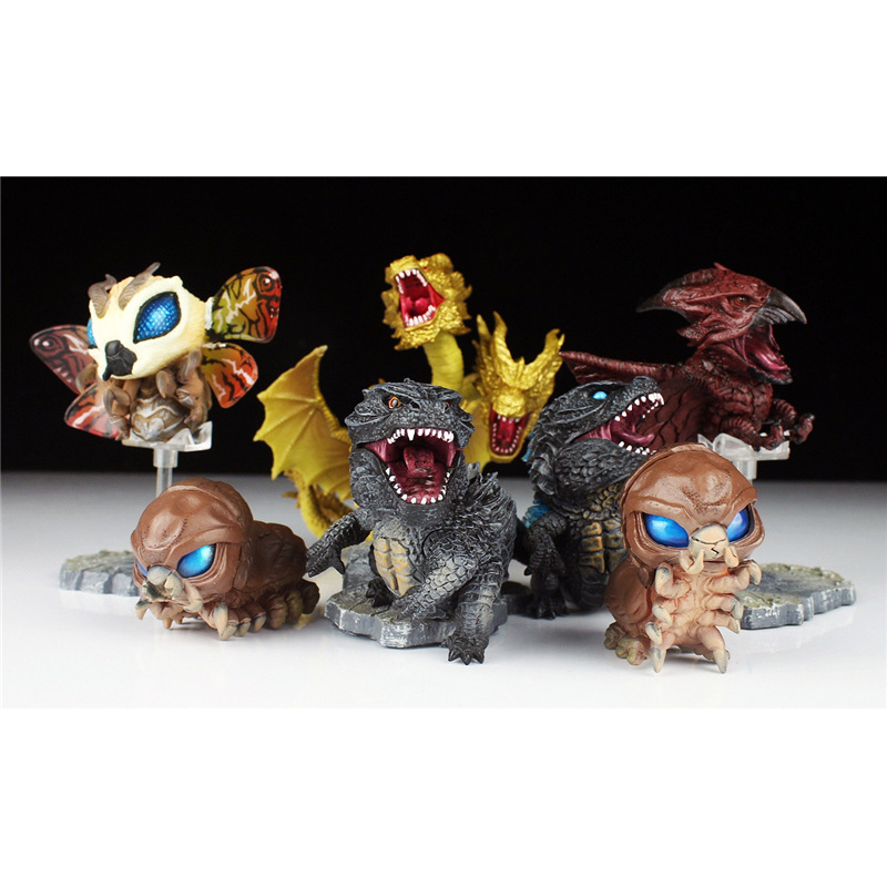 1 Pc Cute Godzilla Blind Box Second Bomb Fierce Egg Beast Series Trend Garage Kit Toy Gift Doll Ornaments Random Send