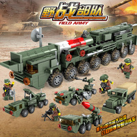 Educational Building Blocks Toy Assembled Building Blocks Plastic Boy CHILDREN'S Toy Field Operations Forces Missile Truck a Set
