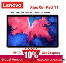 Painel lcd da polegada 2k da almofada 11 de lenovo xiaoxin do firmware global snapdragon octa núcleo 4gb ram 64gb rom tablet android 10