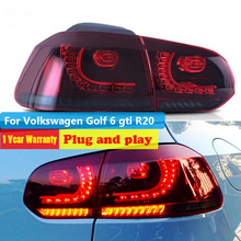цена на LED Tail Lights For Volkswagen Golf 6 2009 - 2012 for vw Golf MK6 GTI R20 Tail Lamp Rear DRL Dynamic Signal +Brake+Reverse