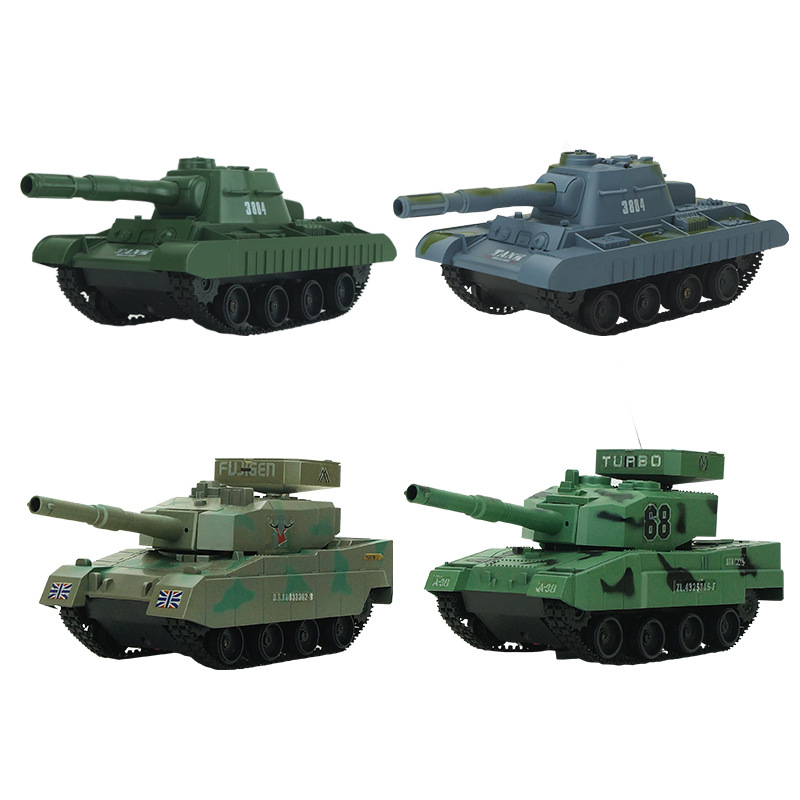 -Emission Bullets Remote Control Children Armored Tank Toy Car Model