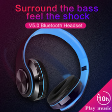 Wireless Headphones Bluetooth  With Microphone Headset Foldable Stereo Gaming Earphones Support TF Card For IPad Mobile Phone wireless headphones bluetooth headset foldable stereo gaming earphones with microphone support tf card for ipad mobile phone mp3