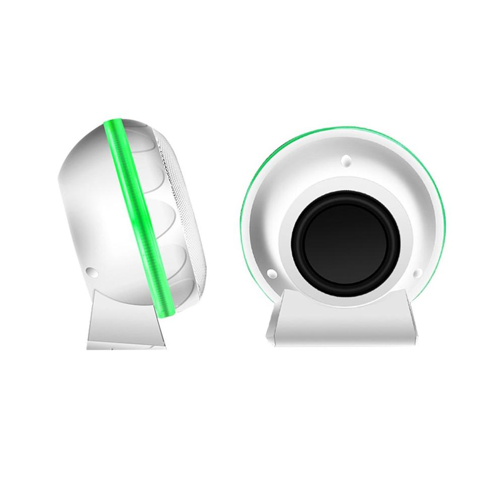 Динамик 3,5 мм проводной настольный ноутбук динамик s USB компьютер громкий динамик - Цвет: Белый