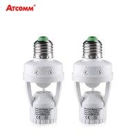 Convertidor de enchufe E27 de 100-240V, ampolla con Sensor de movimiento PIR, Base de lámpara LED E27, interruptor de bombilla inteligente