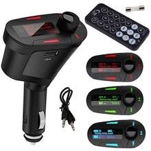 1 шт. автомобильный комплект в форме трубы MP3 плеер беспроводной FM передатчик модулятор USB для SD lcd пульт красный горячая распродажа