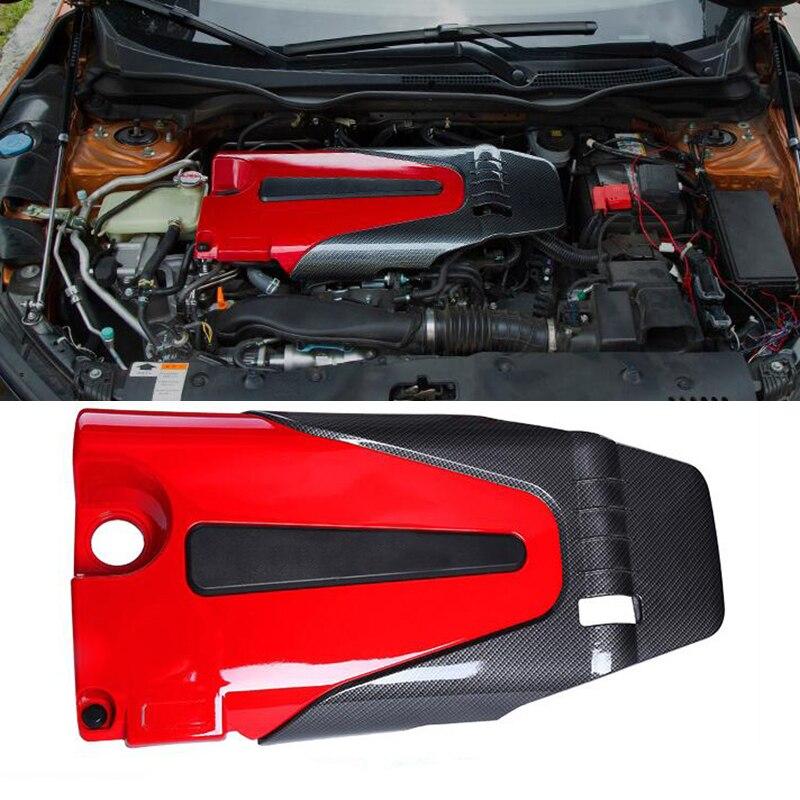 Para Honda Civic 2016 2017 2018 cubierta del polvo del motor 1,5 T sonido del motor aborb citó la funda decorativa de la cubierta de la decoración izquierda drive